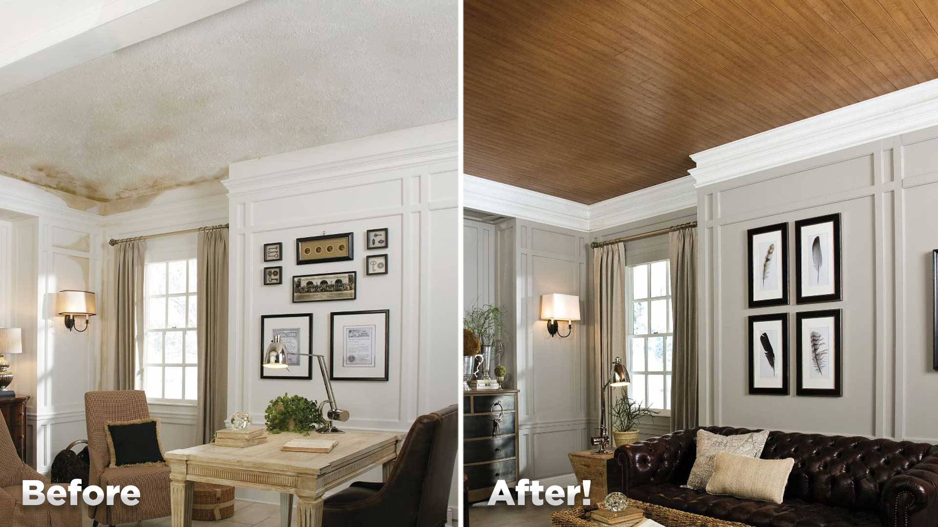 How To Cover A Popcorn Ceiling With Planks Today S Homeowner