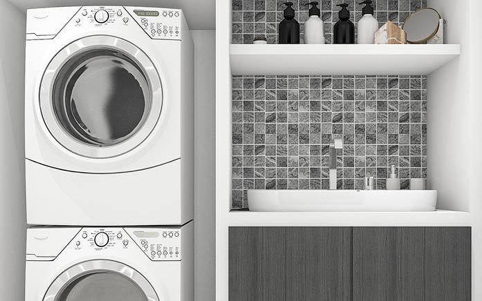 storage solutions for small laundry room