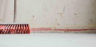 broom on a wall