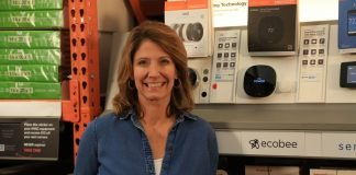 Jodi Marks pictured with the Ecobee SmartThermostat