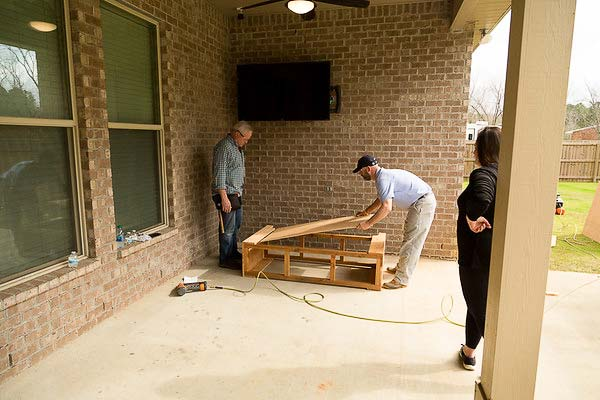 Danny Lipford and Rich build a cedar buffet