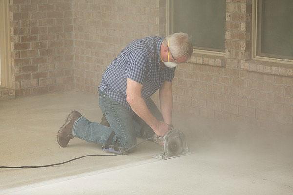 Danny Lipford scores a concrete floor