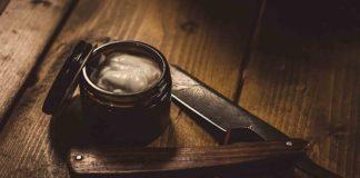 shaving cream and razor