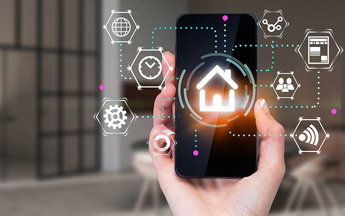 Smart home controlled by phone