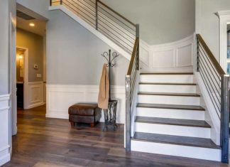 Wainscoting in foyer