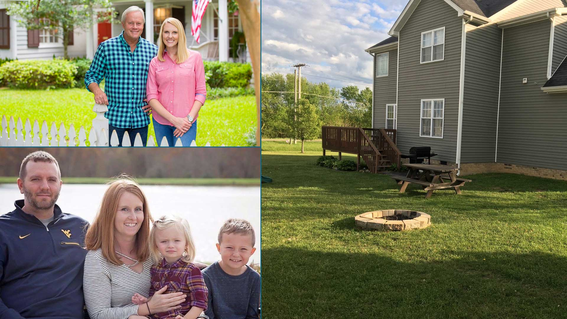 Donna Petry, with her West Virginia family, and Danny Lipford and Chelsea Lipford Wolf, hosts of Today's Homeowner
