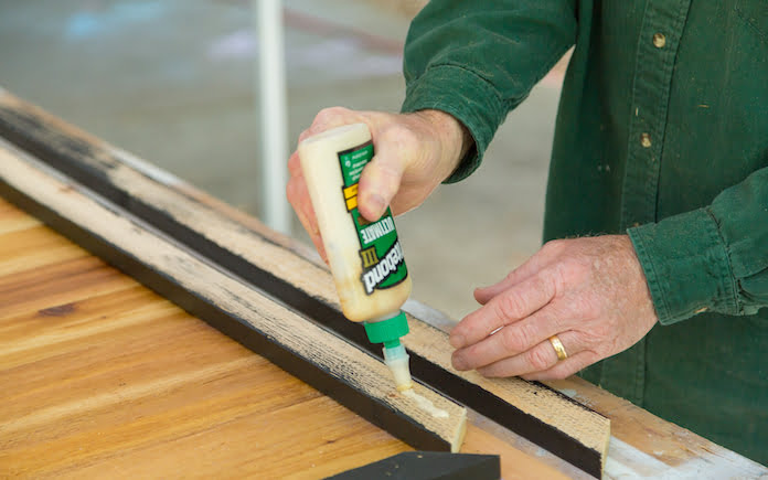 Gluing wood trim and slats with Titebond III Ultimate Wood Glue