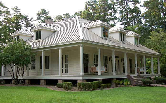 medallion style metal roof