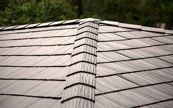 metal roof closeup