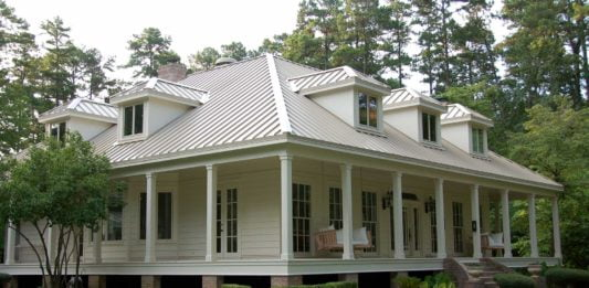Metal roof, medallion style