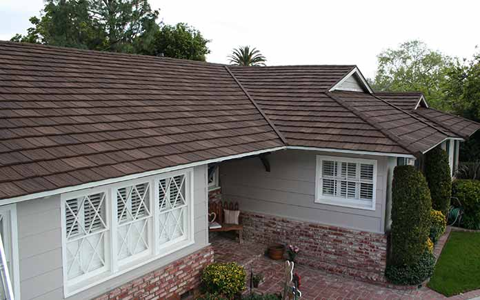 metal roof in shake style