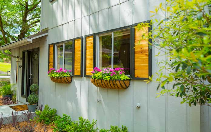 Modern rustic curb appeal exterior