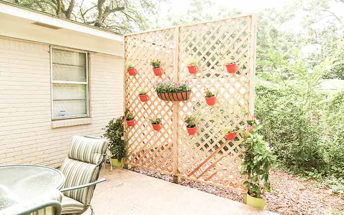 Chelsea Lipford Wolf's lattice privacy wall