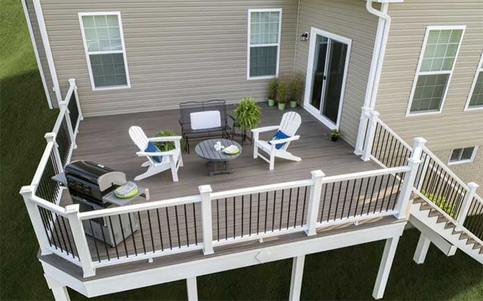 Trex Decking, seen from above