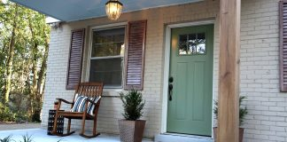 Curb appeal makeover with small front porch