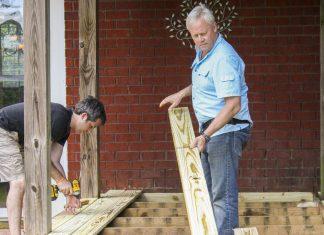 Danny Lipford removes rotting deck boards