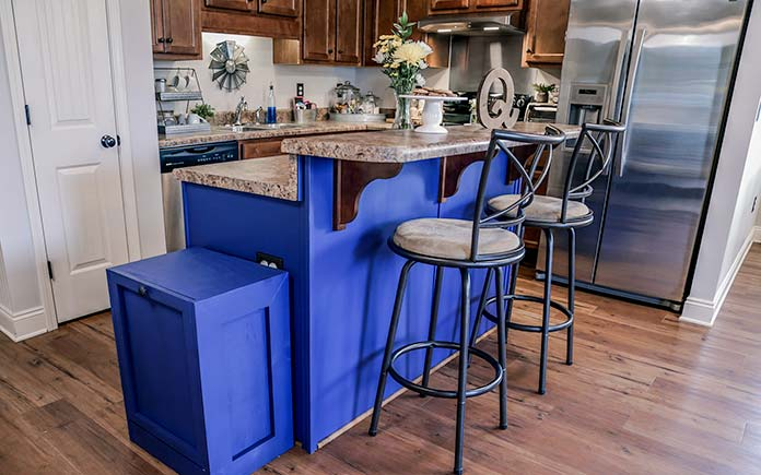 Qualls family's customized kitchen