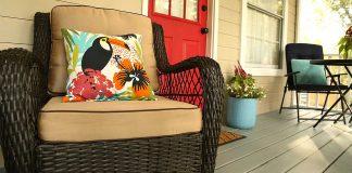 Wood deck at Emily Cottingham's home
