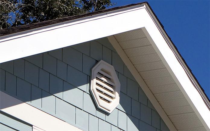 Gable vent on a house