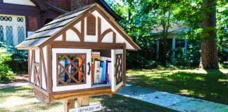 Little Free Library at the Eudora Welty House in Jackson, Mississippi