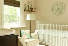 Girl nursery with soft pink walls