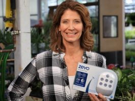 Jodi Marks, pictured with Zevo Bug Killer at The Home Depot