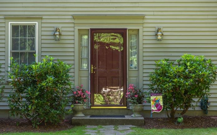 Old metal front door