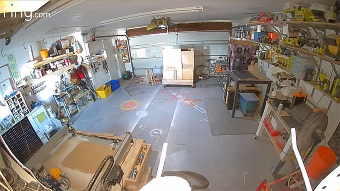 Ring video footage of Sabrina and Bill Gordon's garage after the makeover with new garage organization systems