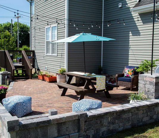 Backyard Paradise, featuring Pavestone patio, in Hurricane, West Virginia