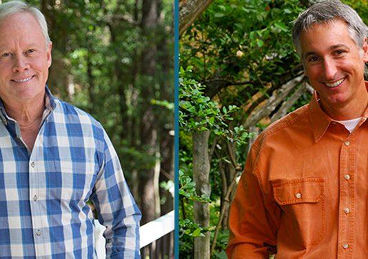 Danny Lipford and Joe Lamp'l, gardening podcast promo
