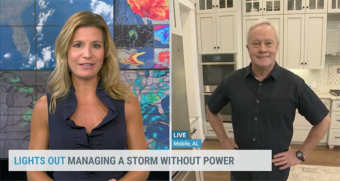 Jen Carfagno discusses hurricane preparation and power outages with Danny Lipford, of Today's Homeowner, on The Weather Channel