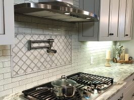 Broan range hood over a gas range at Danny Lipford's home