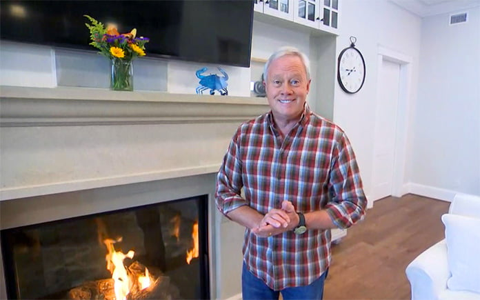 Danny Lipford discusses fireplace safety on AMHQ on The Weather Channel