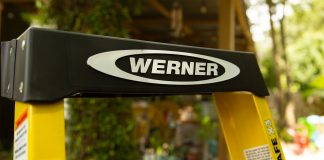 Werner multipurpose ladder, seen outside
