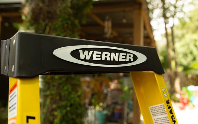 Werner multipurpose ladder, seen outside