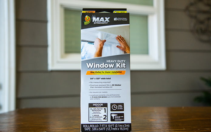 The Duck Brand's Heavy Duty Max Strength Window Kit, pictured in the Today's Homeowner studio in Mobile, Alabama.
