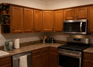 Completed kitchen renovation in Mobile, Alabama
