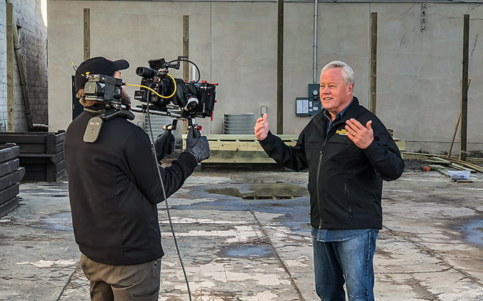 Today's Homeowner host Danny Lipford, taping a segment for The Weather Channel in Marianna, Florida.