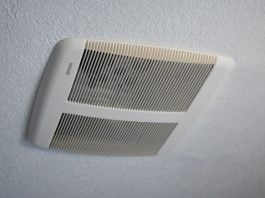 New Broan-NuTone bathroom vent fan with Sensonic technology, newly installed in a Palmdale, California home.