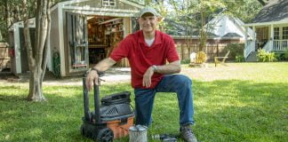 Joe Truini shows how to clean a wet-dry vacuum with a power drill in Today's Homeowner's Simple Solutions segment