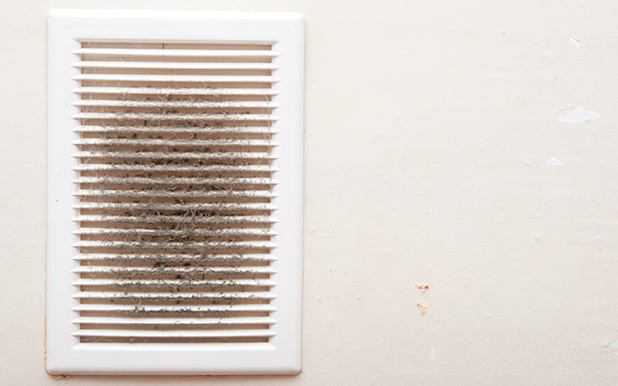 Dust coming from vent in a home