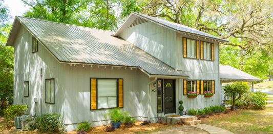 Denver and Alexis Damron's Southern Alabama home, newly renovated with a new metal roof