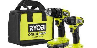 Ryobi drill set with brushless motor