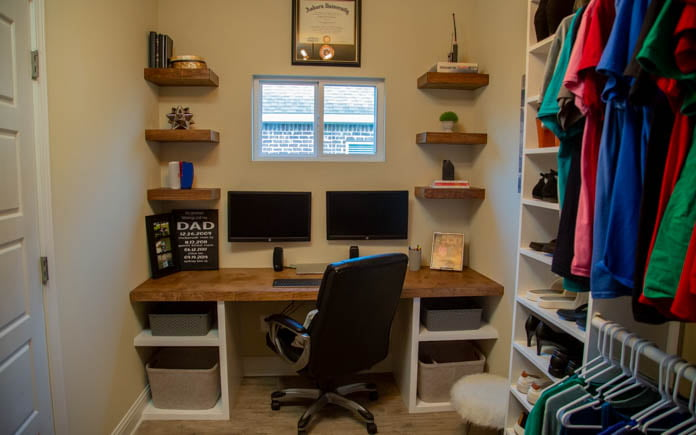 The organized closet and office is complete!