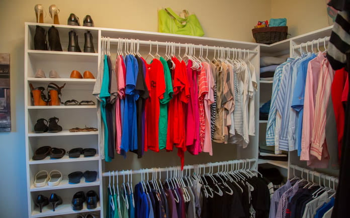 After shot of the new closet organization system.