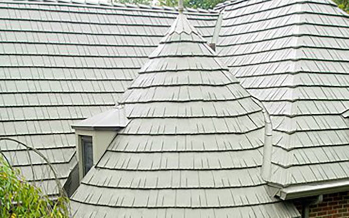 Aluminum roof, seen overhead