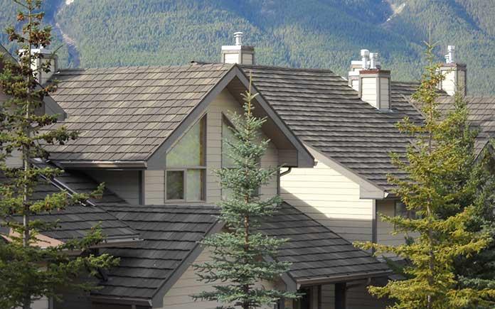Steel roof, seen overhead