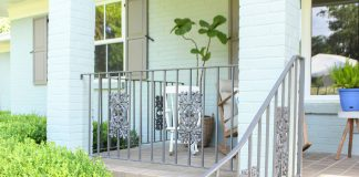 """""""Today's Homeowner"""" co-host Chelsea Lipford Wolf's painted front porch"""