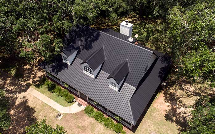 MRA Metal roof on a home
