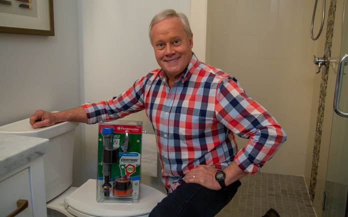 """""""Today's Homeowner"""" host Danny Lipford, pictured with the Fluidmaster Everything Kit"""